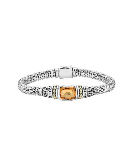 Lagos - Metallic 'caviar Color' Semiprecious Stone Bracelet - Lyst