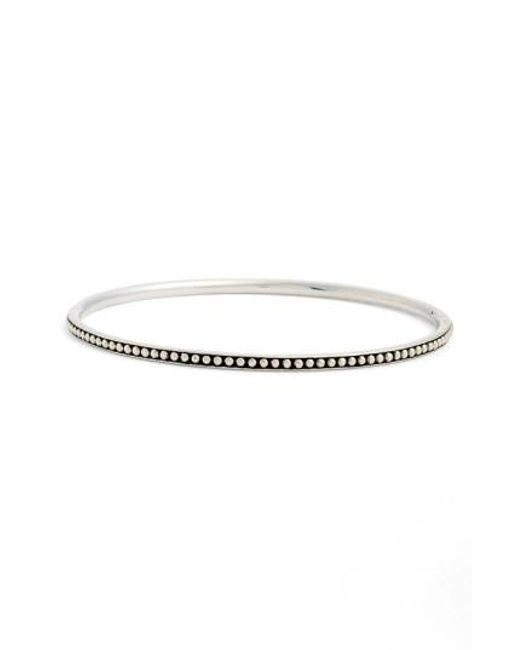 Lagos | Metallic Caviar(tm) Bangle | Lyst