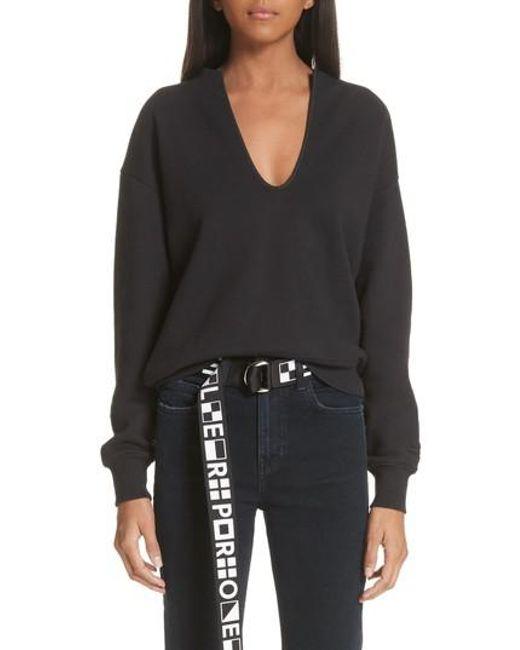 Proenza Schouler - Black Pswl U-neck Sweatshirt - Lyst