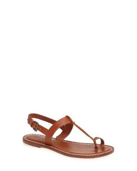 Bernardo - Brown Bernardo Maverick Leather Sandal - Lyst