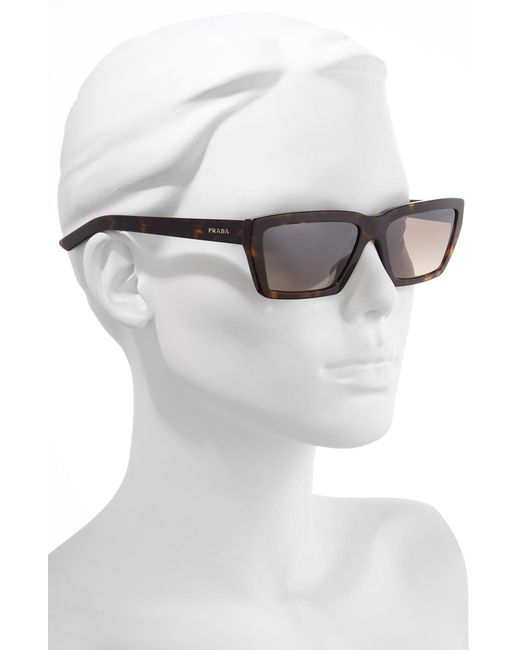 ad781beabcd87 ... Prada - Multicolor Millennial 57mm Rectangle Sunglasses - Havana - Lyst