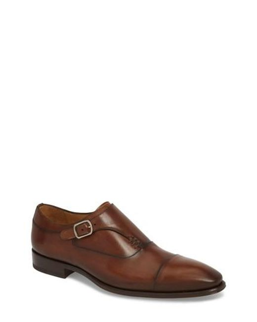 Mezlan - Brown Cartago Monk Strap Cap Toe Oxford for Men - Lyst