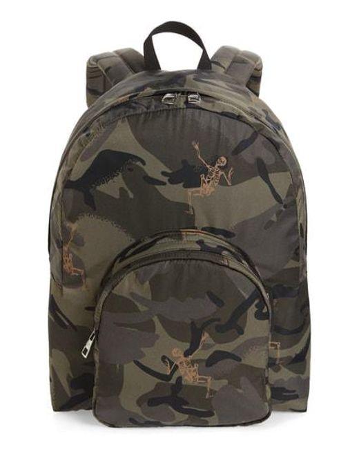 Alexander McQueen - Multicolor Dancing Skeleton Camo Backpack - for Men - Lyst