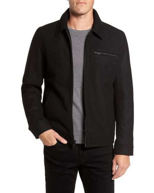 Vince Camuto | Black Wool Blend Shirt Jacket for Men | Lyst