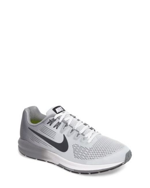 Nike - Gray Air Zoom Structure 21 Running Shoe for Men - Lyst