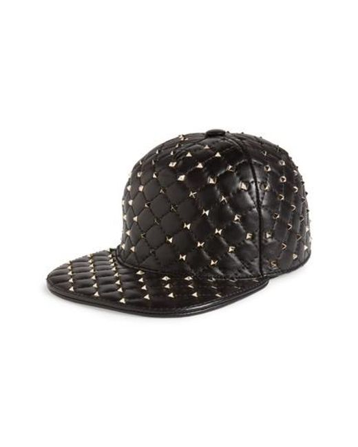 Garavani Rockstud Spike leather cap Valentino