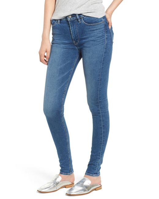 Hudson - Blue Barbara High Waist Super Skinny Jeans - Lyst