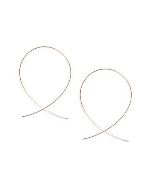 Lana Jewelry | Pink 'large Upside Down' Hoop Earrings | Lyst