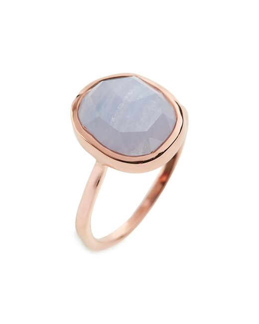 Monica Vinader - Blue Siren Medium Semiprecious Stone Stacking Ring - Lyst