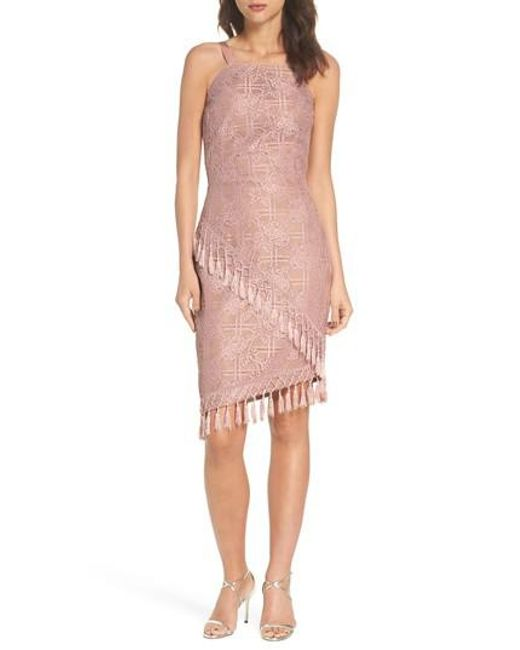 Bronx And Banco Pink Natasha Asymmetrical Lace Dress Lyst