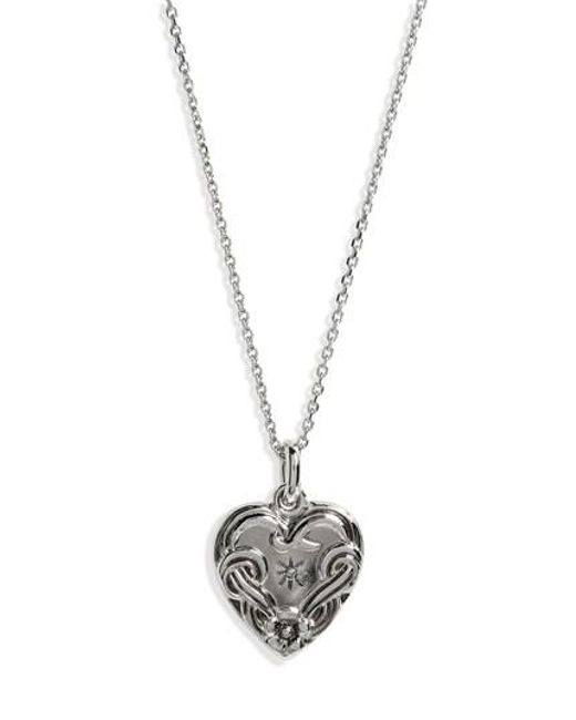 Saint Laurent - Metallic Charms Collection Coeur Necklace - Lyst