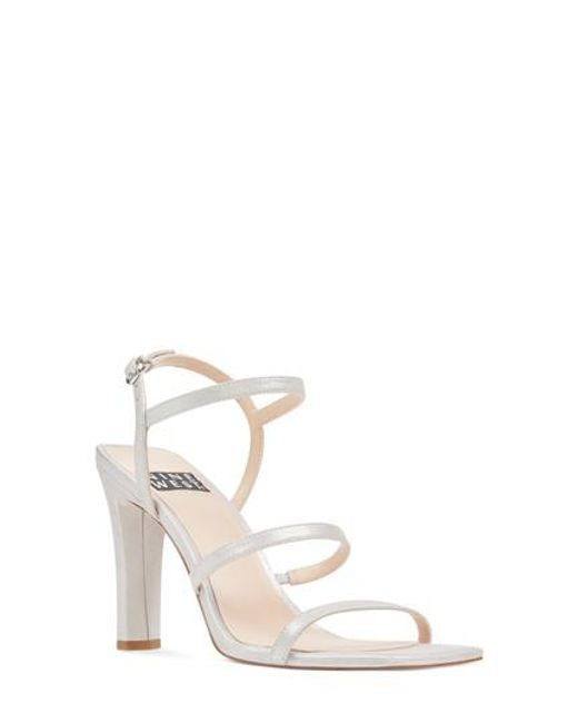 Nine West - Metallic Gabelle Strappy Sandal - Lyst