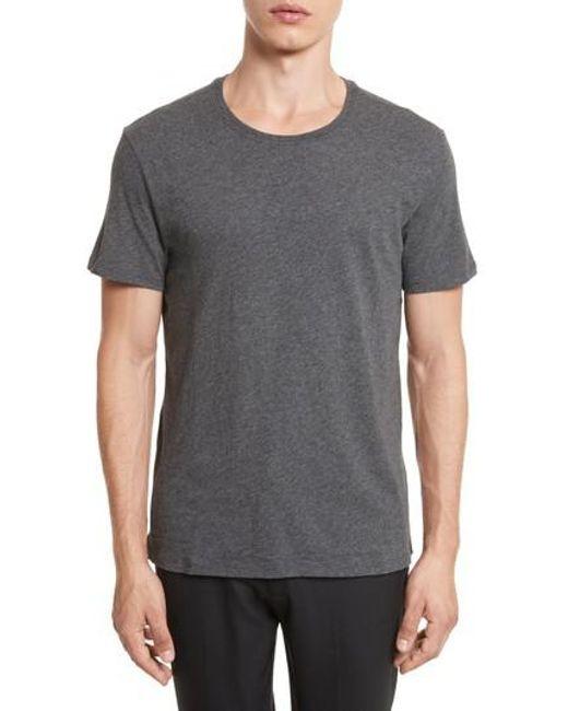 ATM - Gray Cotton Jersey T-shirt for Men - Lyst