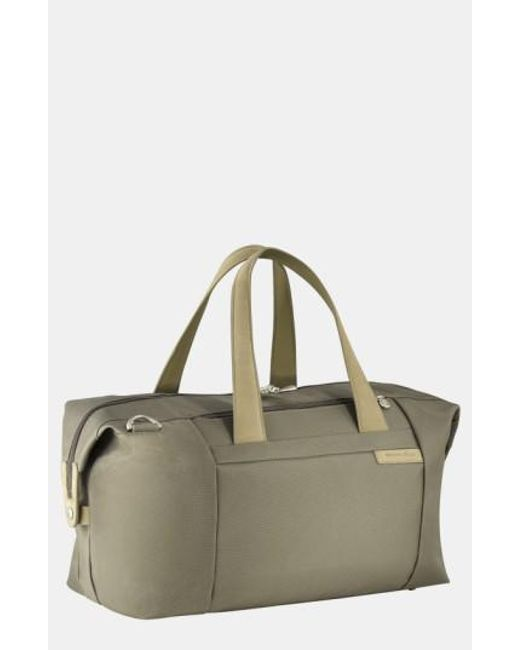 Briggs & Riley | Green 'baseline' Duffel Bag for Men | Lyst
