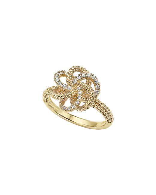 Lagos - Metallic 'love Knot' Diamond Ring - Lyst