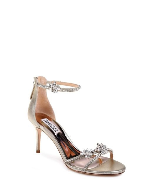 Badgley Mischka - Metallic Badgley Mischka Hobbs Ankle Strap Sandal - Lyst