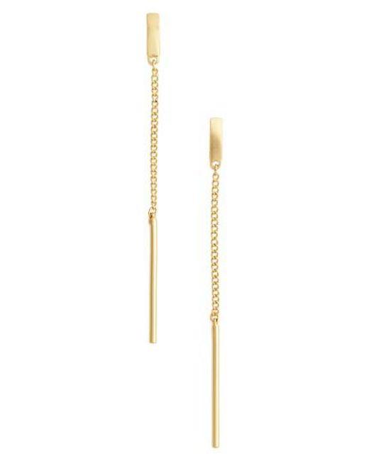 Karine Sultan | Metallic Linear Earrings | Lyst