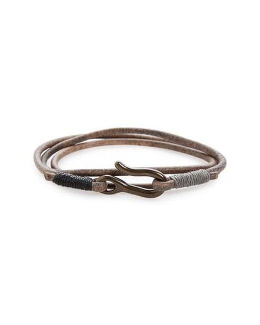 Caputo & Co. | Multicolor Leather Triple Wrap Bracelet | Lyst