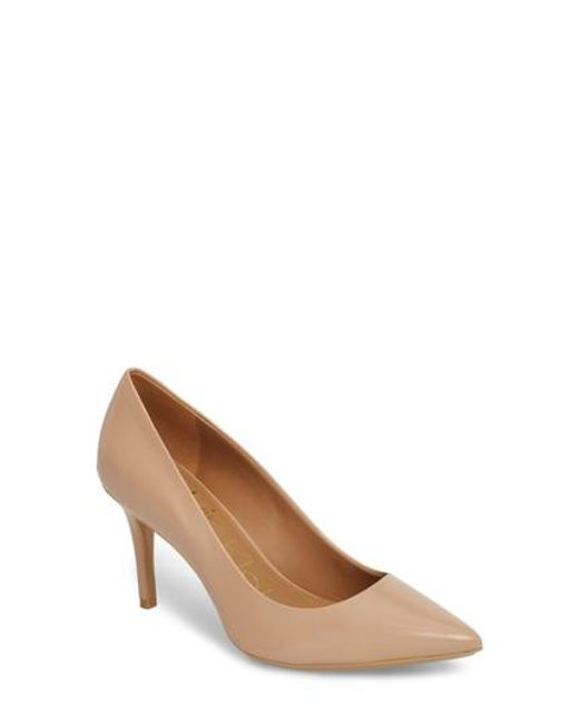 Calvin Klein - Natural 'gayle' Pointy Toe Pump - Lyst