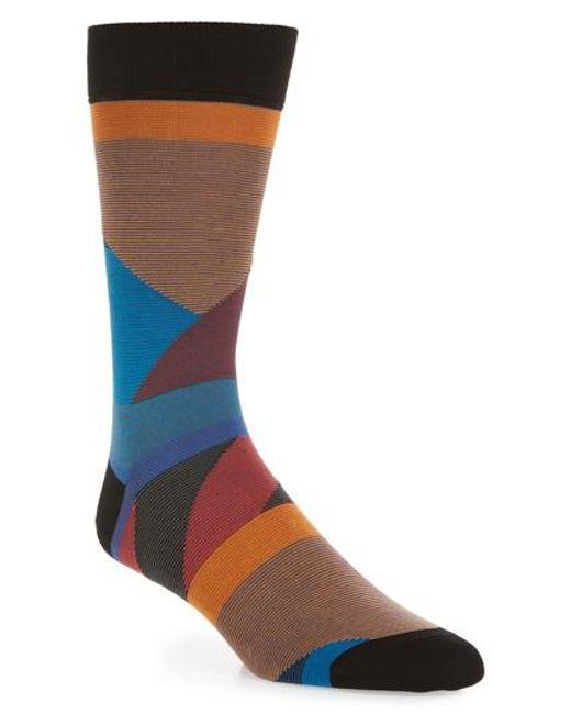 Bugatchi | Black Geometric Crew Socks for Men | Lyst