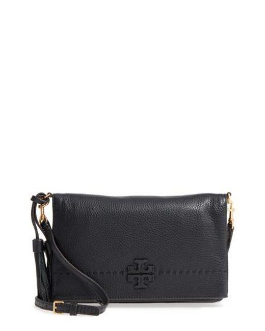 Tory Burch | Black Mcgraw Leather Crossbody Bag | Lyst