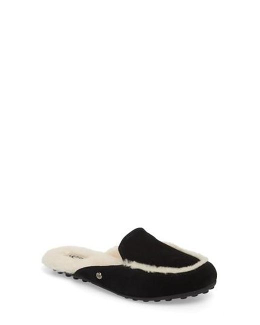 Ugg - Black Ugg Lane Genuine Shearling Slipper - Lyst