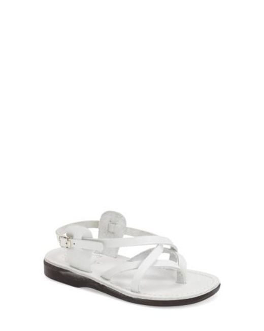 Jerusalem Sandals | White 'tamar' Strappy Sandal | Lyst