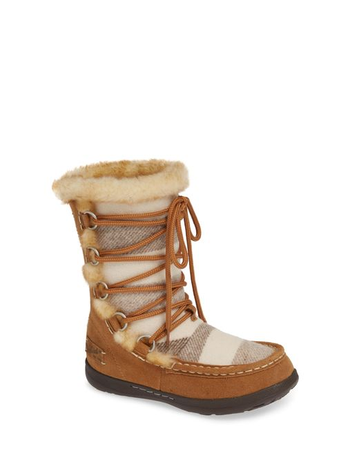 Woolrich - Brown Lace Up Bootie - Lyst