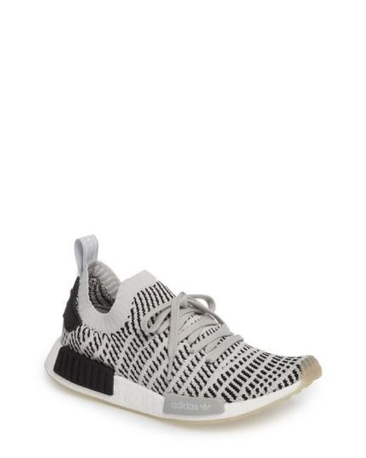 31a2185f0e01b Adidas Nmd R1 Stlt Primeknit Trainer in Grey for Men
