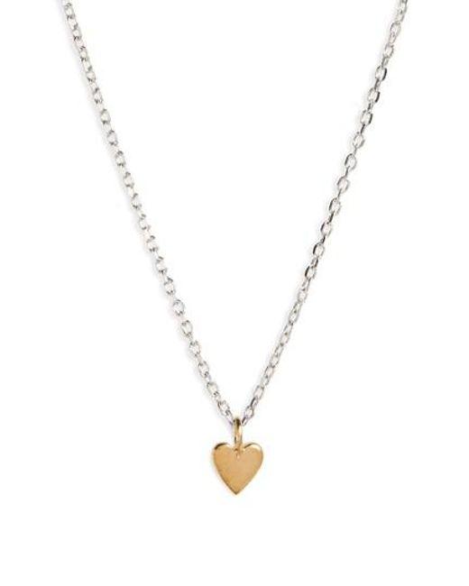 Madewell   Metallic Vermeil Pendant Necklace   Lyst