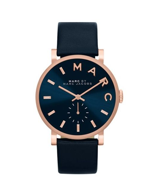 Marc Jacobs | Blue 'baker' Leather Strap Watch | Lyst