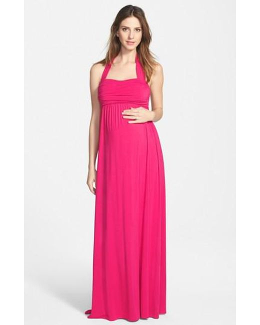 Ingrid & Isabel - Purple Ingrid & Isabel Convertible Maxi Maternity Dress - Lyst