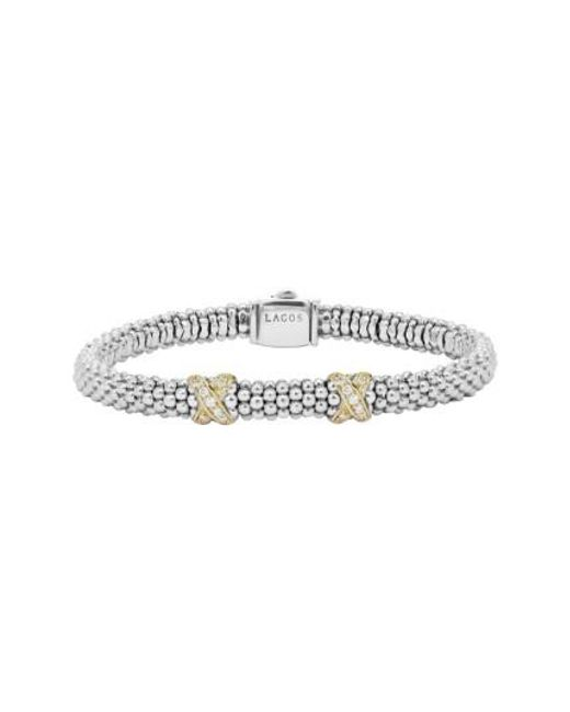 Lagos | Metallic 'signature Caviar' Diamond Rope Bracelet (online Only) | Lyst