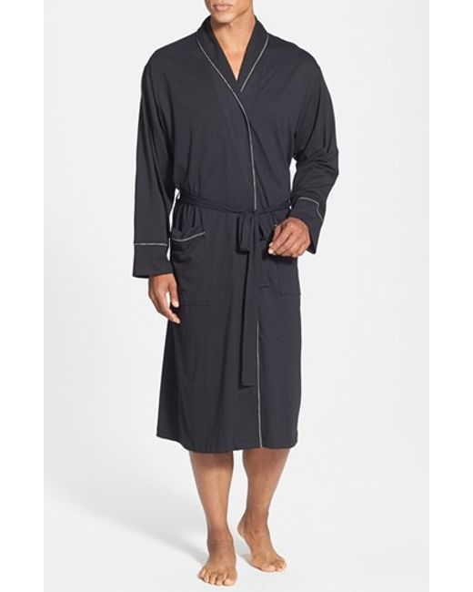 Daniel Buchler | Black Peruvian Pima Cotton Robe for Men | Lyst