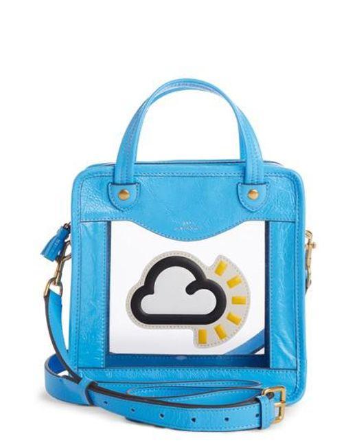Rainy Day Crossbody Bag in Navy PVC Anya Hindmarch 7Q5zwep