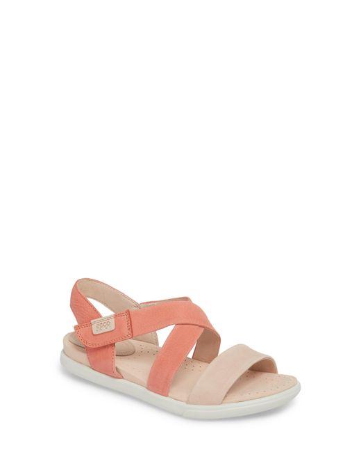 Ecco - Brown Damara Cross-strap Sandal - Lyst