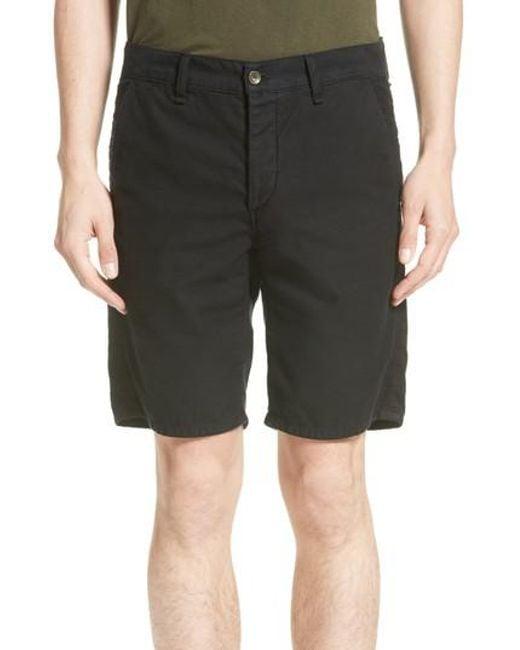 Rag & Bone - Black Standard Issue Shorts for Men - Lyst