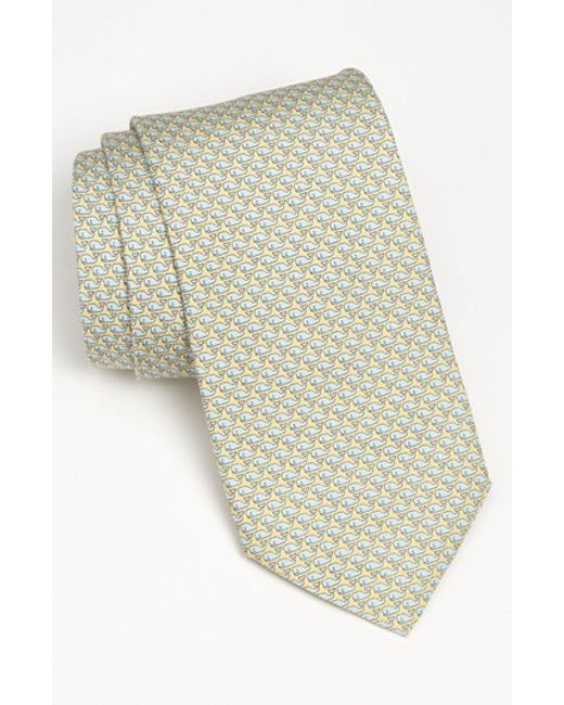 Vineyard Vines | Yellow 'whale' Silk Tie for Men | Lyst