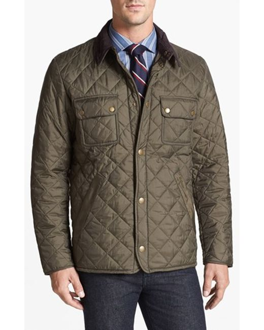 Barbour | Green 'tinford' Regular Fit Quilted Jacket for Men | Lyst