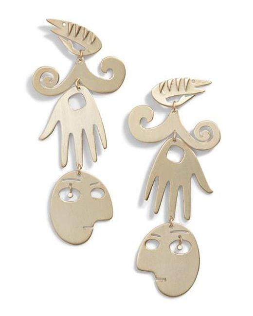 Tory Burch - Metallic Surreal Drop Earrings - Lyst