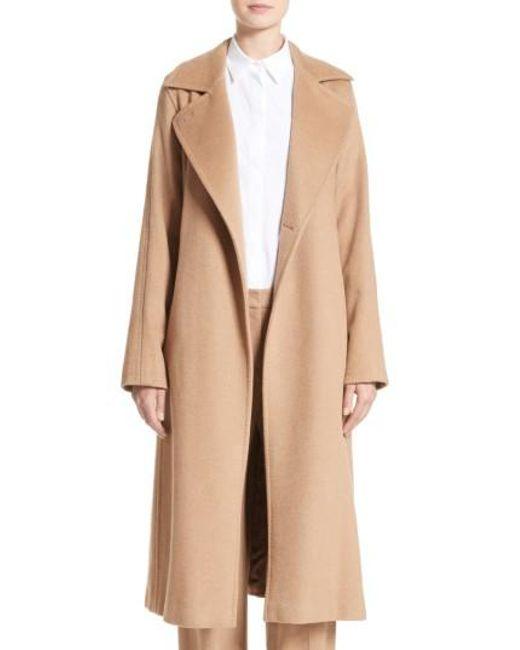 Max Mara | Black 'manuela' Camel Hair Coat | Lyst