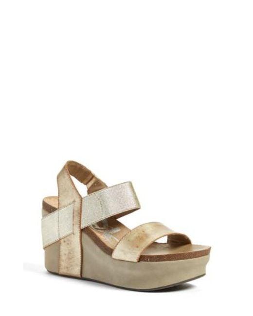 Otbt | Metallic 'bushnell' Wedge Sandal | Lyst