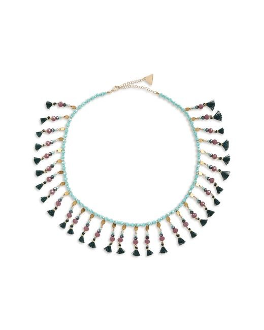 Serefina - Green Fluid Floral Collar Necklace - Lyst