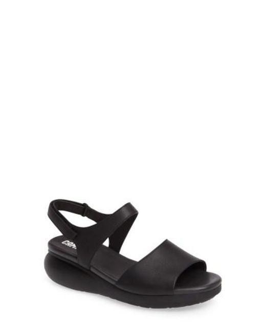 Camper - Black Balloon Slingback Wedge Sandal - Lyst