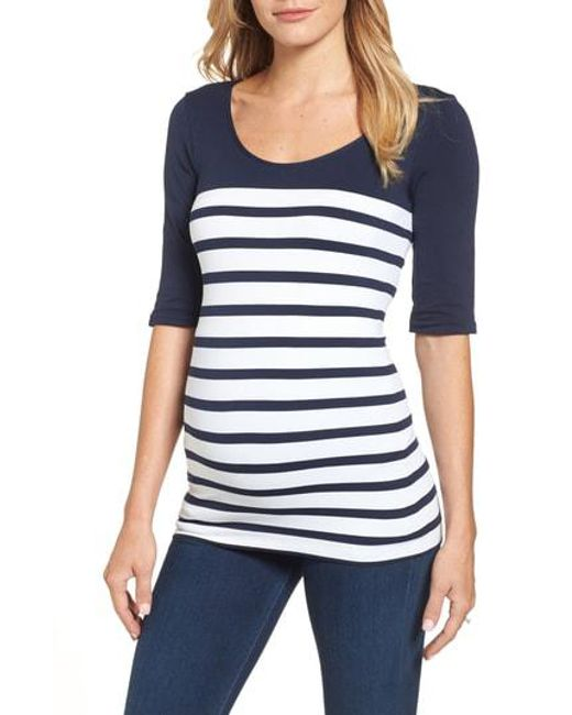 Tees by Tina - Multicolor 'st. Barts' Ballet Sleeve Maternity Top - Lyst