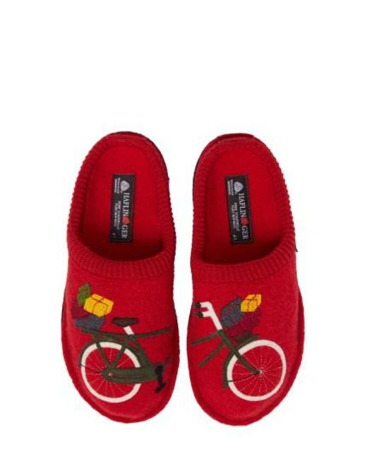 Haflinger - Bicycle (ruby Red) Women's Slippers - Lyst