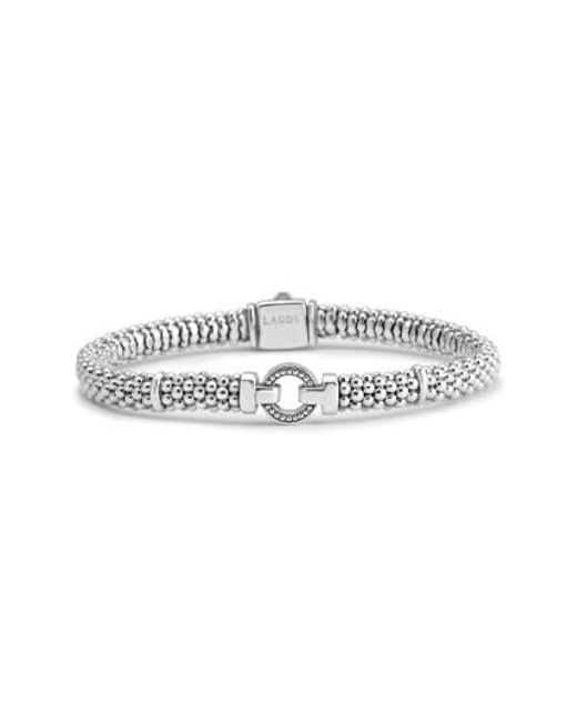 Lagos | Metallic Enso Boxed Circle Station Caviar Rope Bracelet | Lyst