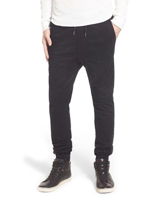 Zanerobe | Black 'sureshot' Slim Tapered Leg Jogger Chinos for Men | Lyst