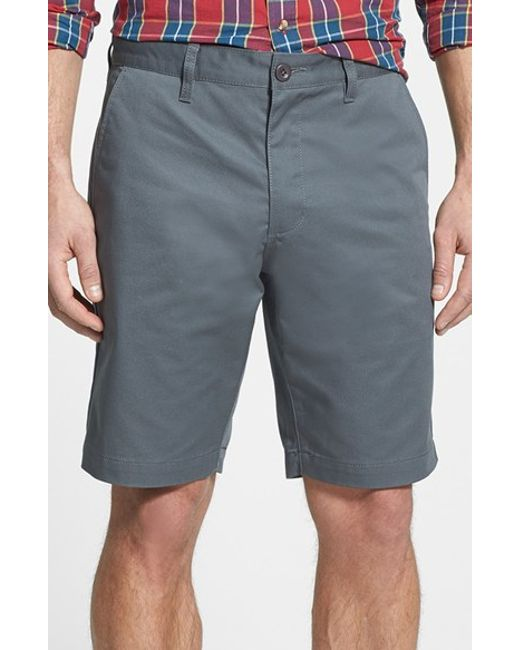 RVCA | Gray Flat Front Twill Shorts for Men | Lyst