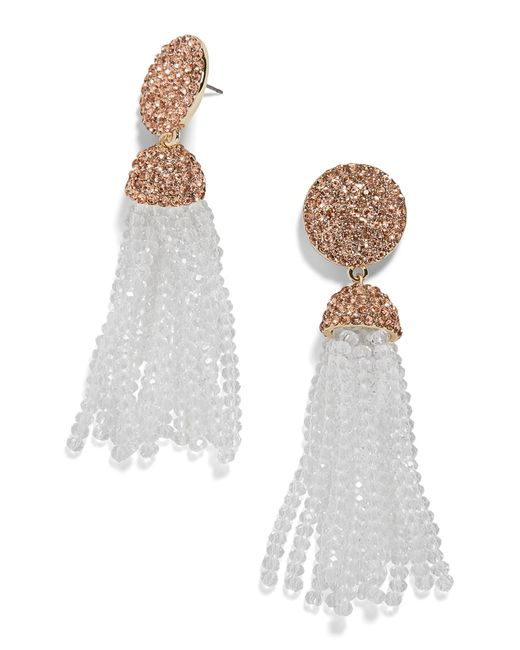 BaubleBar - Multicolor Elle Beaded Tassel Drop Earrings - Lyst